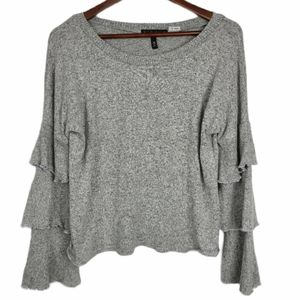 Tiered Ruffle Sleeves Sweater